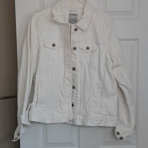 Old Navy White Jean Jacket